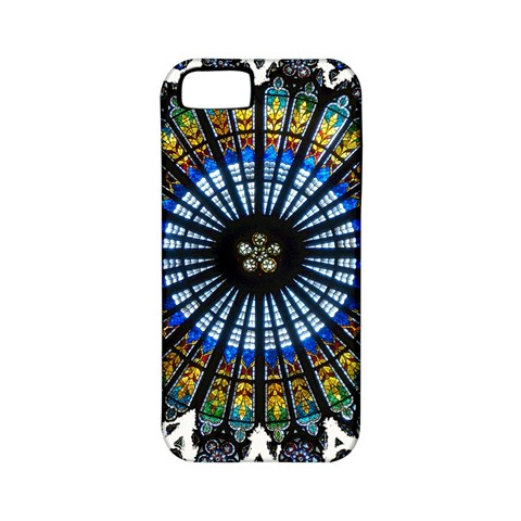 Rose Window Strasbourg Cathedral Apple iPhone 5 Classic Hardshell Case (PC+Silicone)