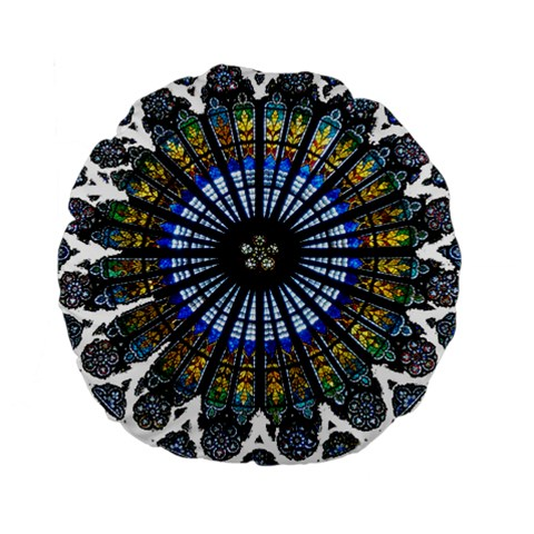 Rose Window Strasbourg Cathedral Standard 15  Premium Round Cushions