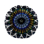 Rose Window Strasbourg Cathedral Standard 15  Premium Round Cushions Back