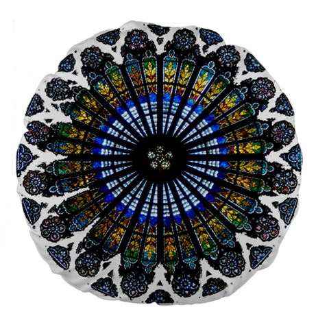 Rose Window Strasbourg Cathedral Large 18  Premium Round Cushions