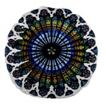 Rose Window Strasbourg Cathedral Large 18  Premium Round Cushions Front