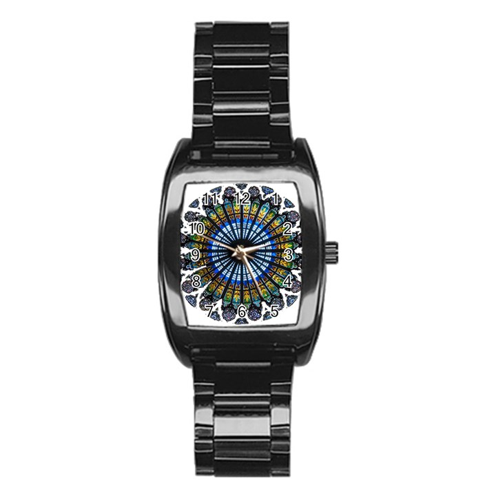 Rose Window Strasbourg Cathedral Stainless Steel Barrel Watch