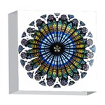 Rose Window Strasbourg Cathedral 5  x 5  Acrylic Photo Blocks Front