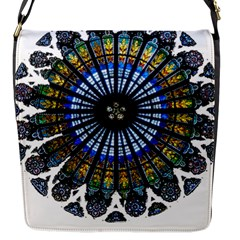 Rose Window Strasbourg Cathedral Flap Messenger Bag (S)
