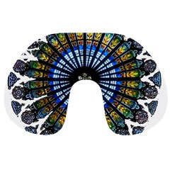 Rose Window Strasbourg Cathedral Travel Neck Pillows