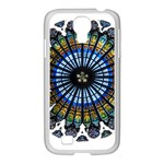 Rose Window Strasbourg Cathedral Samsung GALAXY S4 I9500/ I9505 Case (White) Front