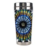Rose Window Strasbourg Cathedral Stainless Steel Travel Tumblers Center