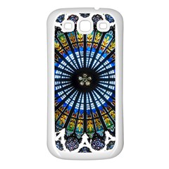 Rose Window Strasbourg Cathedral Samsung Galaxy S3 Back Case (White)