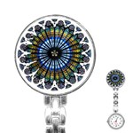 Rose Window Strasbourg Cathedral Stainless Steel Nurses Watch Front