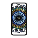 Rose Window Strasbourg Cathedral Apple iPhone 5C Seamless Case (Black) Front