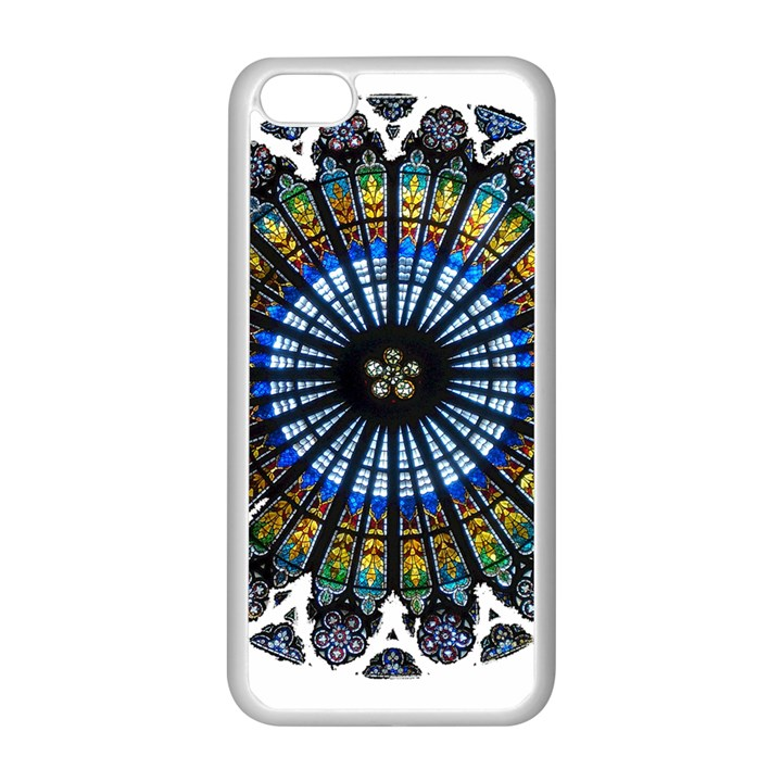 Rose Window Strasbourg Cathedral Apple iPhone 5C Seamless Case (White)