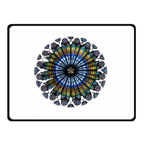 Rose Window Strasbourg Cathedral Double Sided Fleece Blanket (Small)