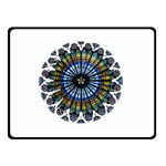 Rose Window Strasbourg Cathedral Double Sided Fleece Blanket (Small)  50 x40 Blanket Back