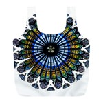 Rose Window Strasbourg Cathedral Full Print Recycle Bags (L)  Back