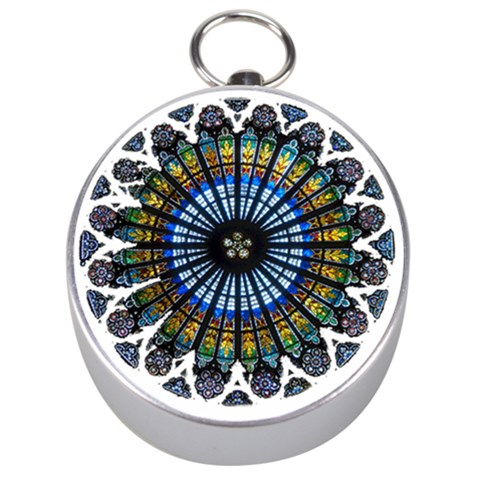 Rose Window Strasbourg Cathedral Silver Compasses