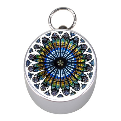 Rose Window Strasbourg Cathedral Mini Silver Compasses