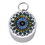 Rose Window Strasbourg Cathedral Mini Silver Compasses Front