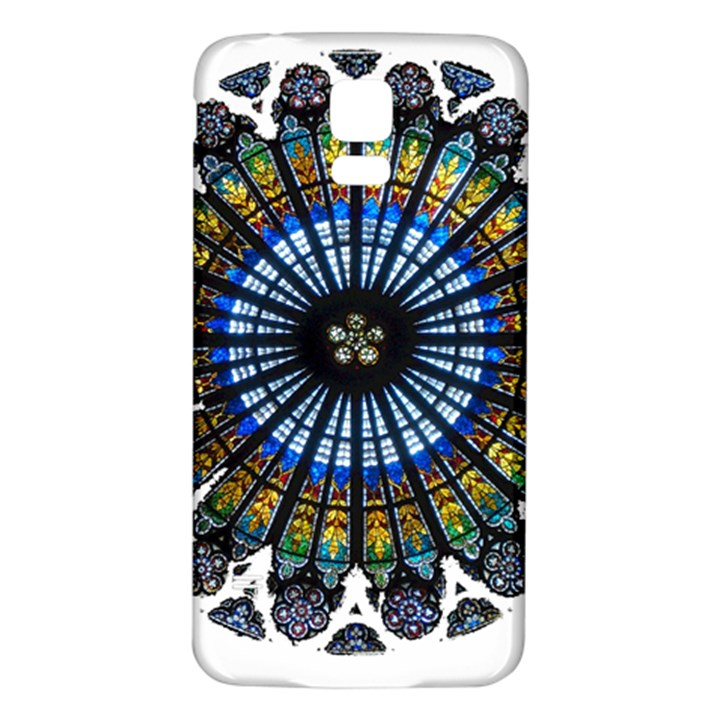 Rose Window Strasbourg Cathedral Samsung Galaxy S5 Back Case (White)