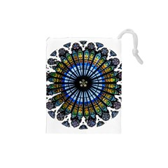 Rose Window Strasbourg Cathedral Drawstring Pouches (Small)