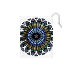 Rose Window Strasbourg Cathedral Drawstring Pouches (Small)  Front