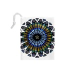Rose Window Strasbourg Cathedral Drawstring Pouches (Small)  Back