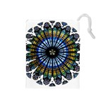 Rose Window Strasbourg Cathedral Drawstring Pouches (Medium)  Front