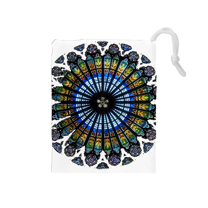 Rose Window Strasbourg Cathedral Drawstring Pouches (Medium)