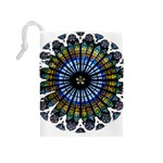 Rose Window Strasbourg Cathedral Drawstring Pouches (Medium)  Back