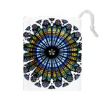 Rose Window Strasbourg Cathedral Drawstring Pouches (Large)  Front