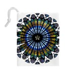 Rose Window Strasbourg Cathedral Drawstring Pouches (Large)  Back