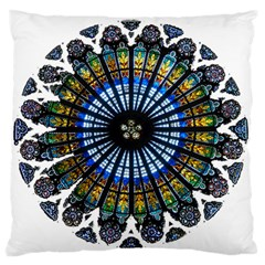 Rose Window Strasbourg Cathedral Large Flano Cushion Case (Two Sides)