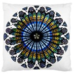 Rose Window Strasbourg Cathedral Large Flano Cushion Case (Two Sides) Front