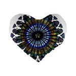 Rose Window Strasbourg Cathedral Standard 16  Premium Flano Heart Shape Cushions Front
