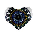Rose Window Strasbourg Cathedral Standard 16  Premium Flano Heart Shape Cushions Back