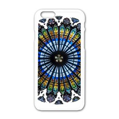 Rose Window Strasbourg Cathedral Apple iPhone 6/6S White Enamel Case
