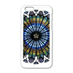 Rose Window Strasbourg Cathedral Apple iPhone 6/6S White Enamel Case Front