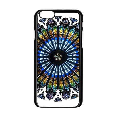 Rose Window Strasbourg Cathedral Apple iPhone 6/6S Black Enamel Case