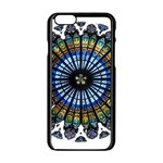 Rose Window Strasbourg Cathedral Apple iPhone 6/6S Black Enamel Case Front