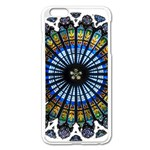 Rose Window Strasbourg Cathedral Apple iPhone 6 Plus/6S Plus Enamel White Case Front