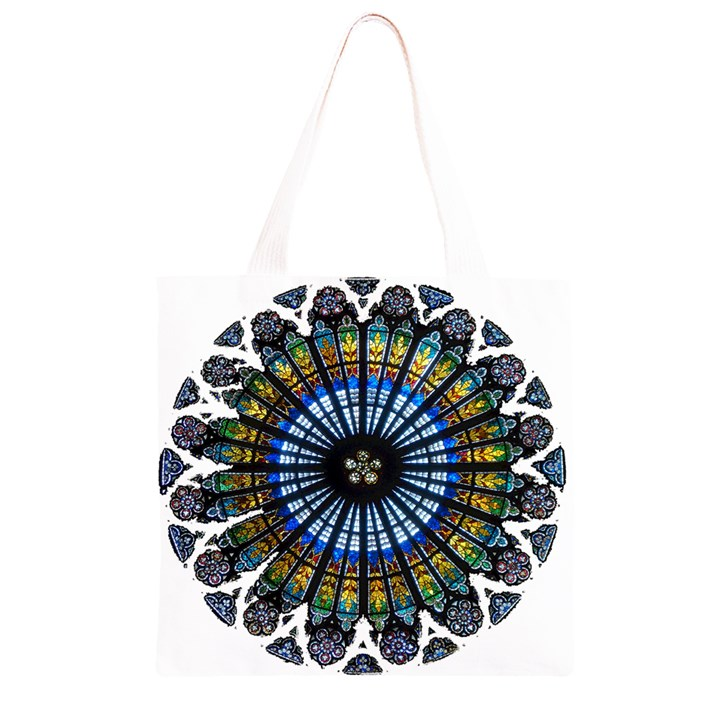 Rose Window Strasbourg Cathedral Grocery Light Tote Bag