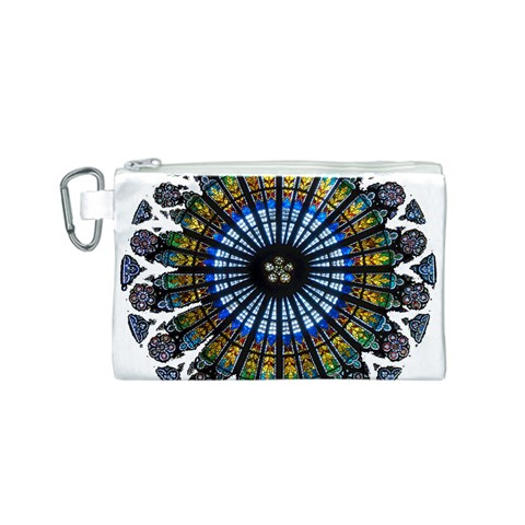 Rose Window Strasbourg Cathedral Canvas Cosmetic Bag (S)