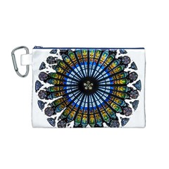 Rose Window Strasbourg Cathedral Canvas Cosmetic Bag (M)