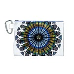 Rose Window Strasbourg Cathedral Canvas Cosmetic Bag (M) Front