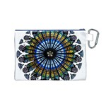 Rose Window Strasbourg Cathedral Canvas Cosmetic Bag (M) Back