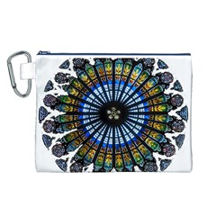Rose Window Strasbourg Cathedral Canvas Cosmetic Bag (L)