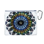 Rose Window Strasbourg Cathedral Canvas Cosmetic Bag (L) Back