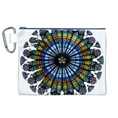 Rose Window Strasbourg Cathedral Canvas Cosmetic Bag (XL)