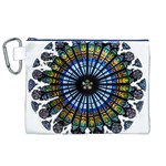 Rose Window Strasbourg Cathedral Canvas Cosmetic Bag (XL) Front