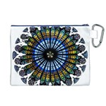 Rose Window Strasbourg Cathedral Canvas Cosmetic Bag (XL) Back