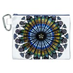 Rose Window Strasbourg Cathedral Canvas Cosmetic Bag (XXL) Front